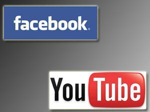 يوتيوب وفيس بوك